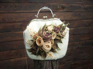 felt rose handbag