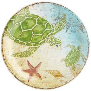 melamine turtle/sea life plate