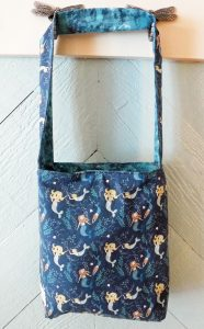 mermaid tote bag is reversible
