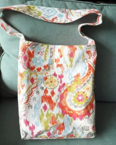 reversible boho print tote bag