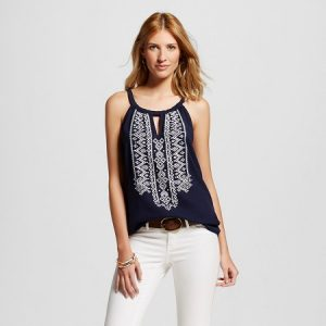 embroidered halter