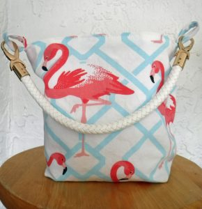 Pink flamingo handbag