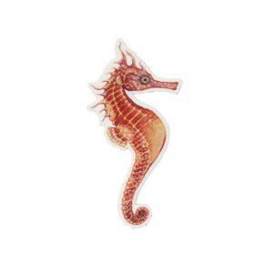 Seahorse art magnet
