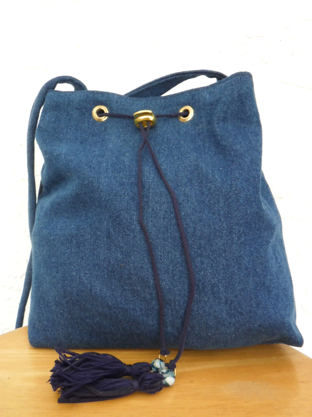 denim bucket bag
