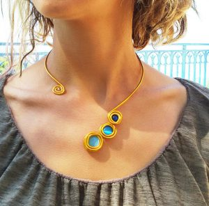 wrap-around necklace