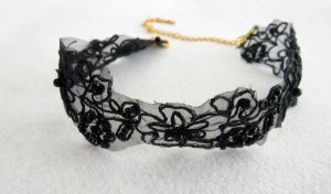 black lace choker necklace