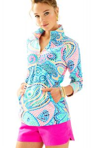 mosaic-print pullover