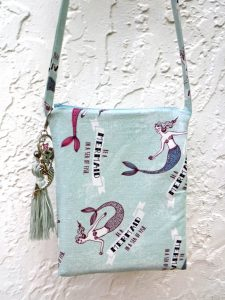Mermaid quote crossbody bag