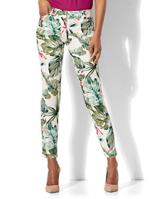 tropical-print pants