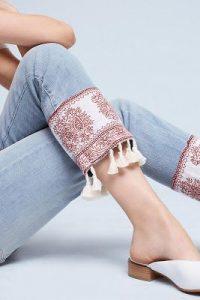 tassel-hem jeans