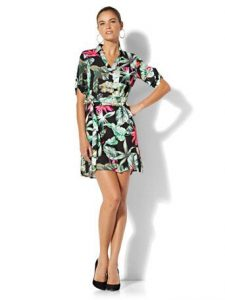 tropical-print dress